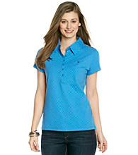 Gloria Vanderbilt® Polka Dot Polo
