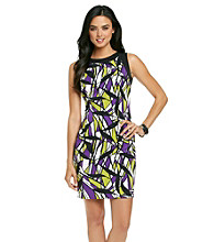 Ronni Nicole® Stain Glass Print Sheath Dress