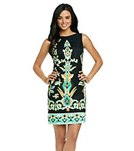 AGB® Print Sheath Dress