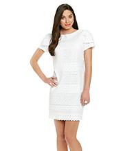 Jessica Howard® Eyelet Sheath Dress