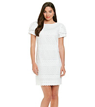 Jessica Howard® Petites' Eyelet Sheath Dress