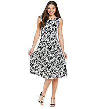 Jessica Howard® Floral Print Knit Dress