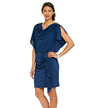 R & M Richards® Silky Blouson Dress