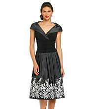 Jessica Howard® Portrait Collar Party Dress