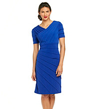 London Times® V-Neck Shutter Dress