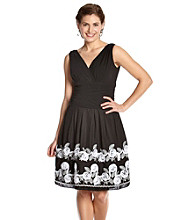 S.L. Fashions Petites' Embroidered Party Dress
