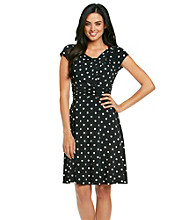 Jessica Howard® Petites' Dot Print Dress