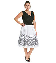 Jessica Howard® Plus Size Surplice Party Dress