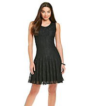 Marina Gored Lace Cocktail Dress