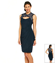 Xscape Beaded Cutout Cocktail Dress