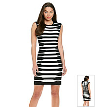 Calvin Klein Banded Stripe Sheath Dress