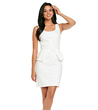Vince Camuto® Cotton Sateen Peplum Dress