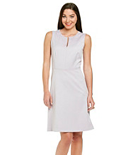 Anne Klein® Slitneck Sateen Dress
