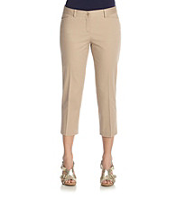 Jones New York Signature® Petites' Solid Twill Capri