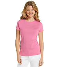 Jones New York Signature® Petites' Short Sleeve Crew Neck Tee