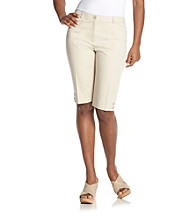 Briggs New York® Petites' Solid Twill Skimmer