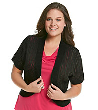 Notations® Plus Size Pointelle Shrug