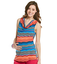 Three Seasons Maternity™ Cowlneck Stripe Top