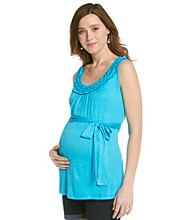 Three Seasons Maternity™ Ruffle Neck Tank