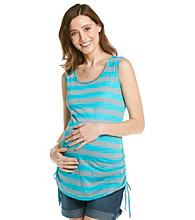 Three Seasons Maternity™ Stripe Side Ruched Tank