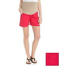 Three Seasons Maternity™ Twill Cuff Short