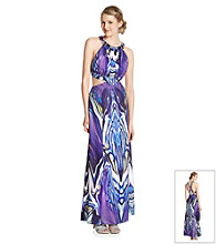 Rampage® Juniors' Beaded Neck Cut Out Gown