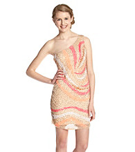 Rampage® Juniors' Beaded One Shoulder Dress