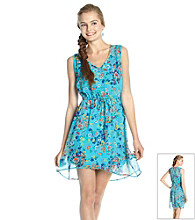 Be Bop Juniors' V-neck Floral Dress