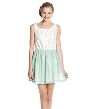 Rampage® Juniors' Pleated Dress