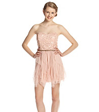 A. Byer Juniors' Strapless Sequin Party Dress