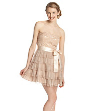 A. Byer Juniors' Strapless Brocade Party Dress