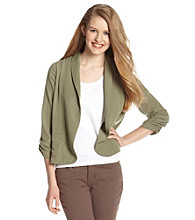 Eyeshadow® Juniors' Cinched Sleeve Blazer