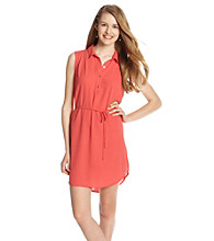 not forever Juniors' Button Front Shirt Dress