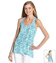 Eyeshadow® Juniors' Floral Print Woven Tank