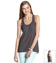 Eyeshadow® Juniors' Dot Print Woven Tank