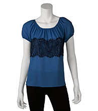 A. Byer Juniors' Lace Panel Top