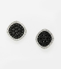 Effy® Black and White Diamond .53 ct. t.w. Earrings in 14K White Gold