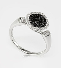 Effy® Black and White Diamond .38 ct. t.w. Ring in 14K White Gold