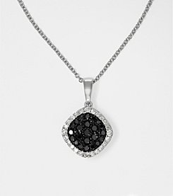 Effy® Black and White Diamond .36 ct. t.w. Pendant in 14K White Gold