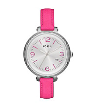 Fossil® Women's Heather Pink Leather Watch