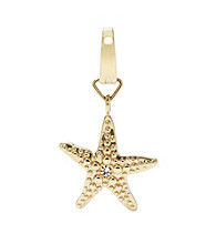 Fossil® Goldtone Star Fish Charm