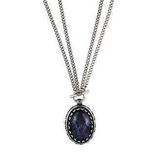 "Nine West Vintage America Collection® 32"" Silvertone Convertible Pendant Necklace"