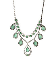 Nine West Vintage America Collection® Seafoam Green Frontal Necklace