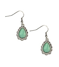 Nine West Vintage America Collection® Seafoam Green Drop Earrings
