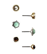 Nine West Vintage America Collection® Stud Earrings Trio