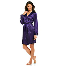 Chanteuse® Short Purple Robe - Purple