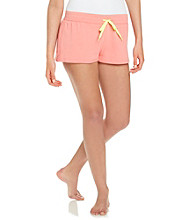 Steve Madden Calypso Coral French Terry Knit Shorts