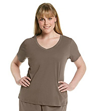 Jockey® Plus Size Knit V-Neck Top