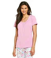 Jockey® Pink Scoopneck Top