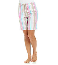 Jockey® Sensual Stripe Knit Bermuda Shorts